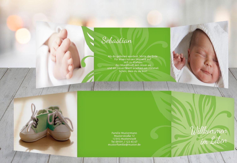 Kartenparadies Geburtskarte Babykarte Blaume, hochwertige Babykarte zur Geburt inklusive inklusive inklusive Umschläge   20 Karten - (Format  148x105 mm) Farbe  DunkelGrün B01MZFPX9I | Exquisite (mittlere) Verarbeitung  | Mangelware  | Ausreichende Versorgung  e72d3b