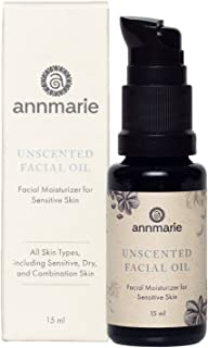product image for Annmarie Skin Care Herbal Facial Oil for Sensitive Skin - Unscented Facial Oil with Squalane, Sacha Inchi Oil + Camellia Seed Oil (15 Milliliters, 0.5 Fluid Ounces)