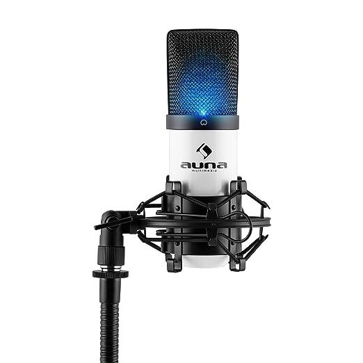 140 opinioni per auna MIC-900-WH microfono a condensatore (capsula elettrete di 16mm, cavo USB,