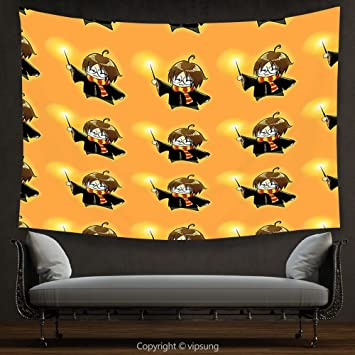 Amazon.com: House Decor Tapestry Wizard by Cartoon Character with ...