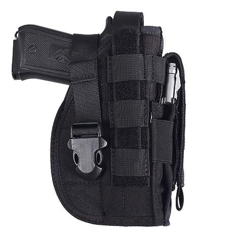 Military Tactical Pistol Holster Hunting Waist Belt Gun Holder Storage Bag Pouch