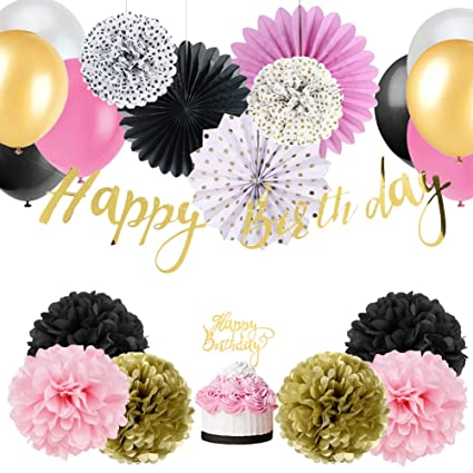 Amazon easy joy baby girl 1st birthday decoration wild one easy joy baby girl 1st birthday decoration wild one birthday decorations kit tissue paper pom poms mightylinksfo