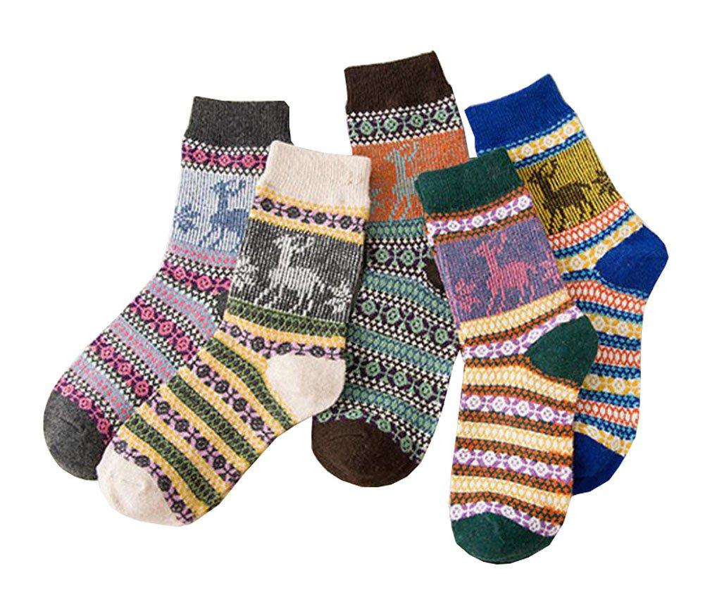Frauen-Socken-Komfort-Baumwoll-Knöchel-hohe Socken - 5 Paare Black Temptation