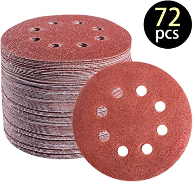 10pcs 5 Inch Hook And Loop Sanding Discs Sandpaper Disc Sandpaper Polishing Pad