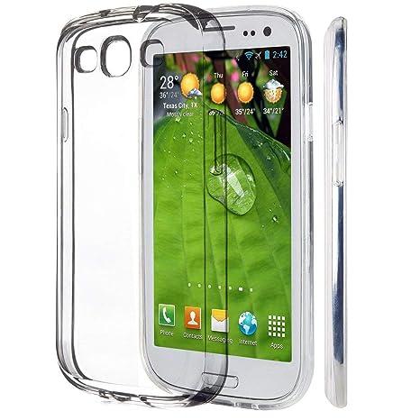 iVoler Funda Carcasa Gel Transparente Compatible con Samsung Galaxy S3 / S3 Neo, Ultra Fina 0,33mm, Silicona TPU de Alta Resistencia y Flexibilidad