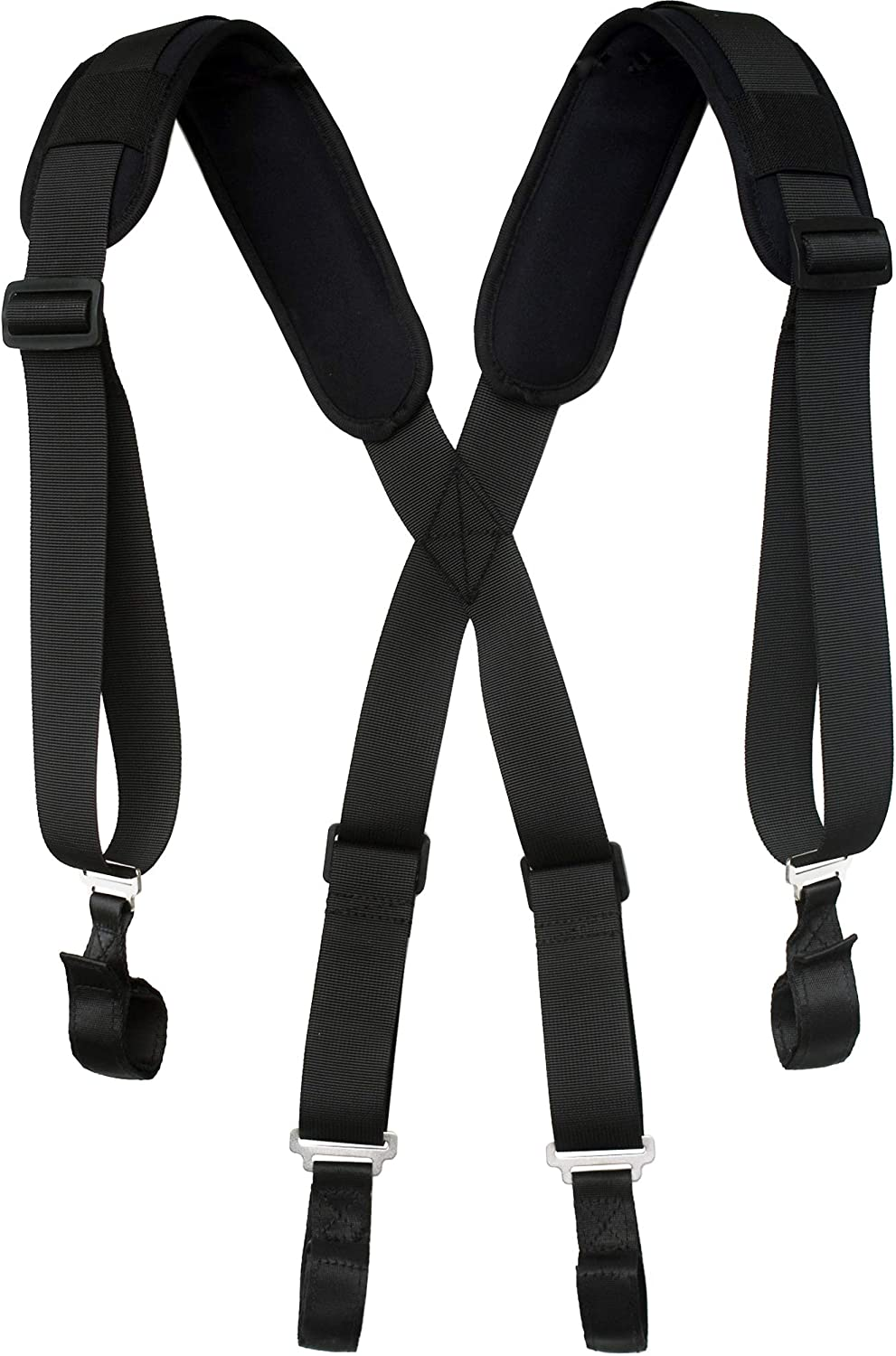 Construction Clip Hand Tools on Grey Suspenders