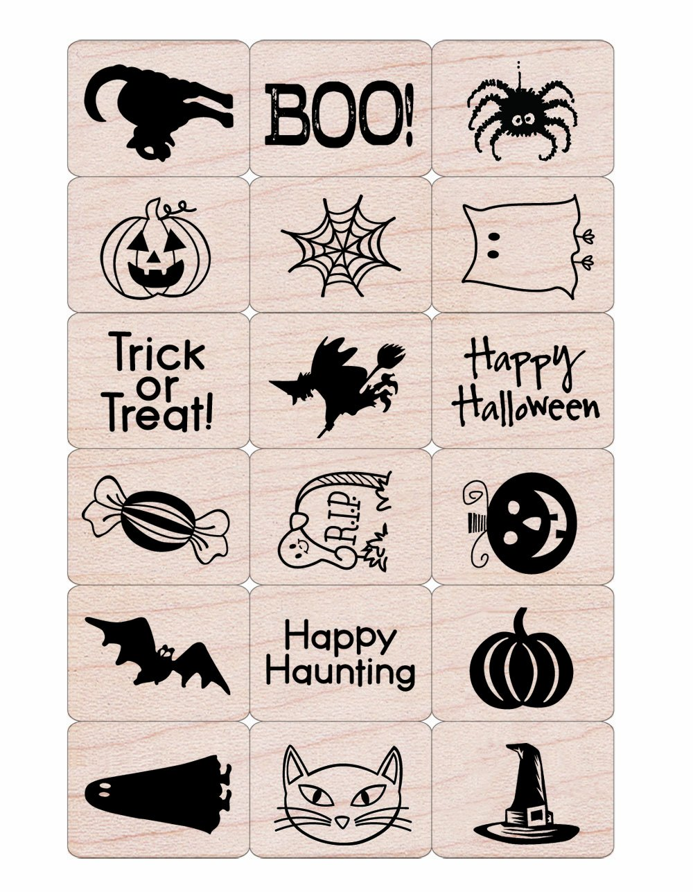 Hero Arts LL440 Rubber Stamps Halloween Ink and Stamp Set