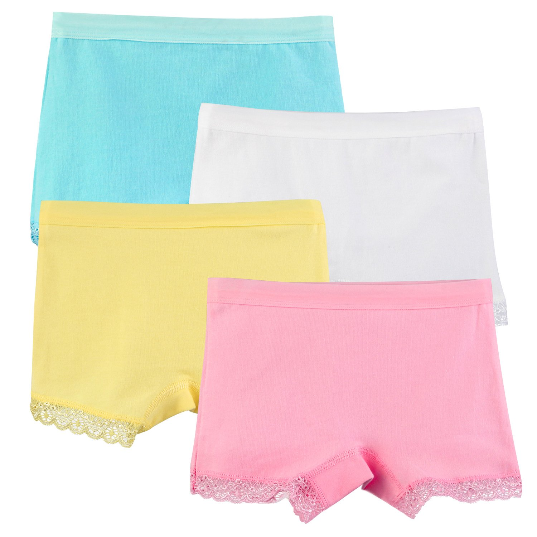 BOOPH 4 Pack Girls Cotton Boyshort Panties Underwear 3-5 Years