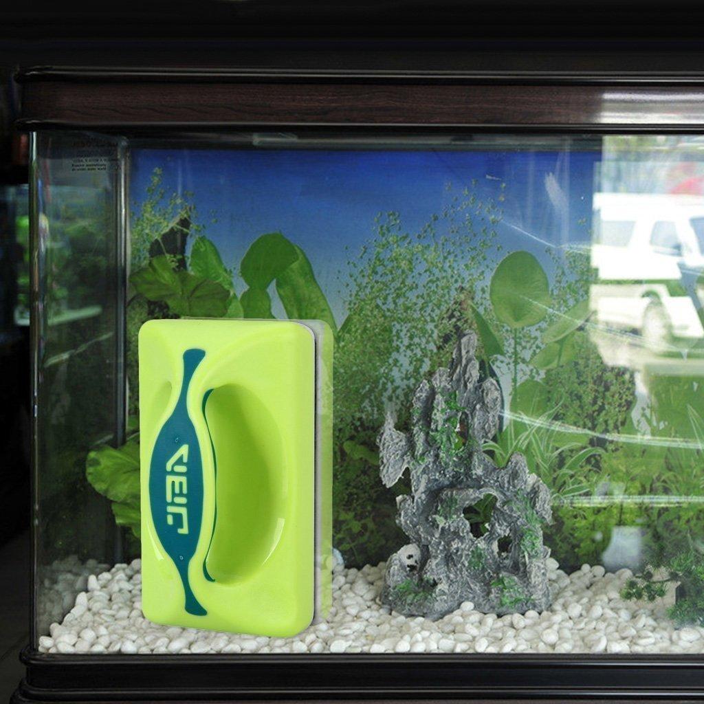 Gearmax® Magnética Cepillo Raspador limpiador de vidrio para Acuario Pescado tanque algas: Amazon.es: Electrónica