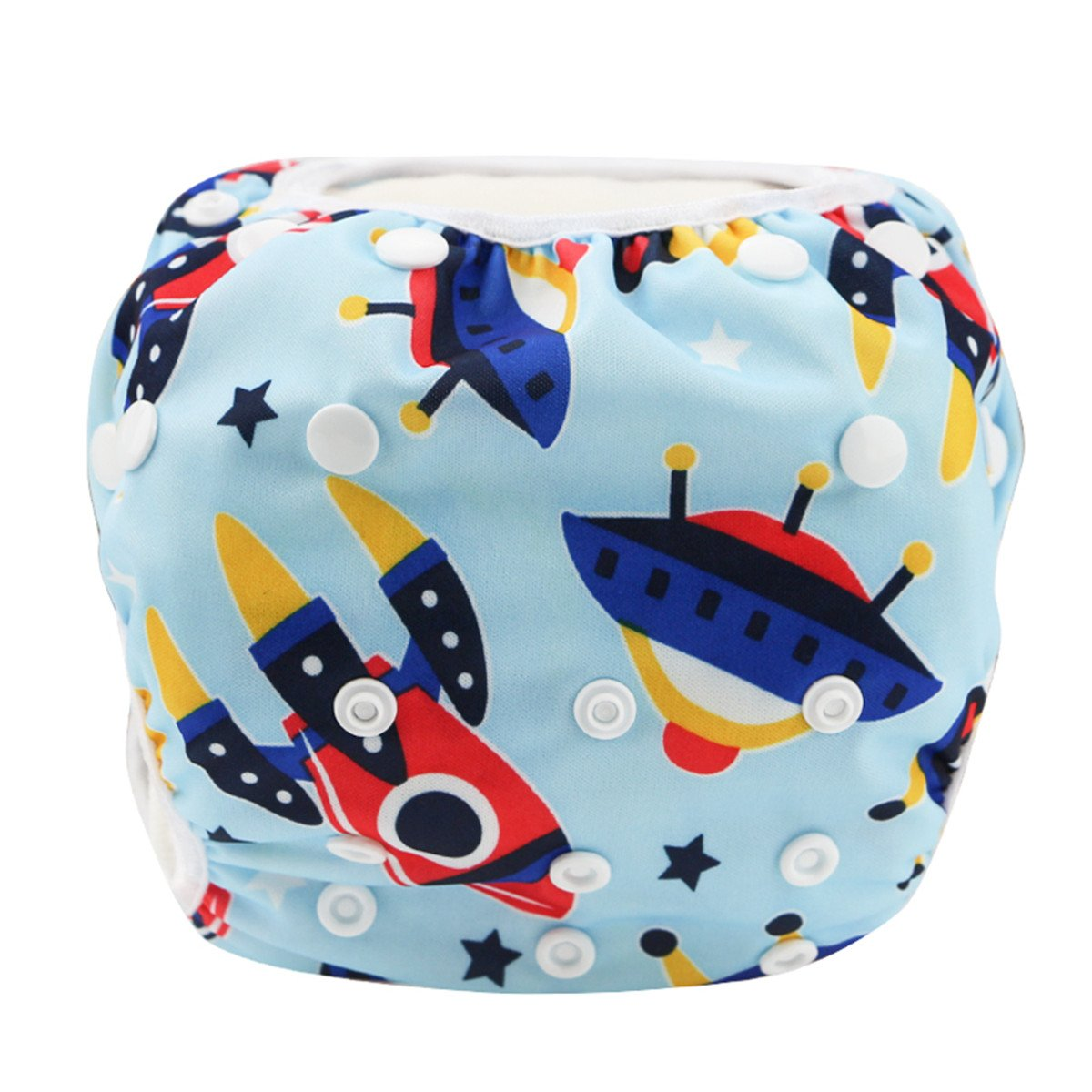 Frog Prince Hi Sprout Adjustable Snaps Baby Swim Diapers for Boys /& Girls