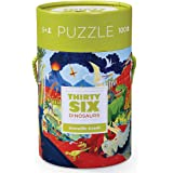 Crocodile Creek Thirty-Six Dino 100Piece Jigsaw Puzzle in Canister Puzzle