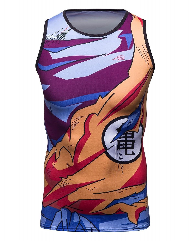Cody Lundin Herren Mode bunt Cratoon gedruckt Casual Muskel Shirt Gentleman Blickfang Shirt m/ännlichen Sport Outdoor Sport Jersey