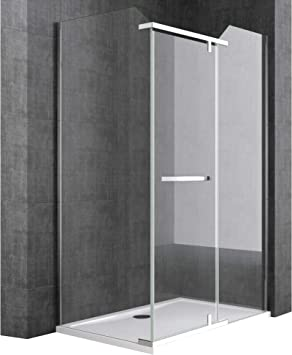 doporro Cabina de ducha de esquina Rav13K 80x100x195, Mampara de ducha de vidrio de seguridad transparente | con revestimiento de facil limpieza en ambos lados: Amazon.es: Bricolaje y herramientas