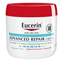 Eucerin Advanced Repair Cream - Fragrance Free, Full Body Lotion for Very Dry Skin...