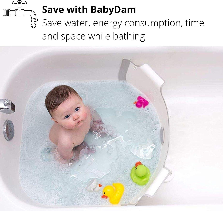 Babydam Reducteur De Baignoire Blanc Gris Amazon Fr Bebes Puericulture
