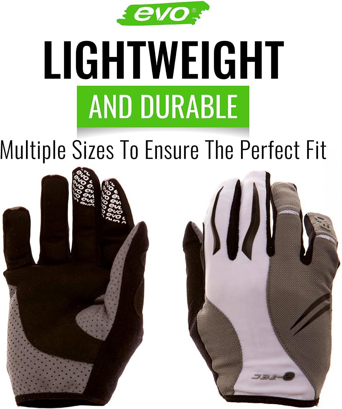 Large Evo E-Tec Espresso Gel Pro Full Finger Cycling Gloves