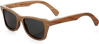 product image for Shwood Canby Polarized Wood Sunglasses Herringbone Frame Grey Lenses