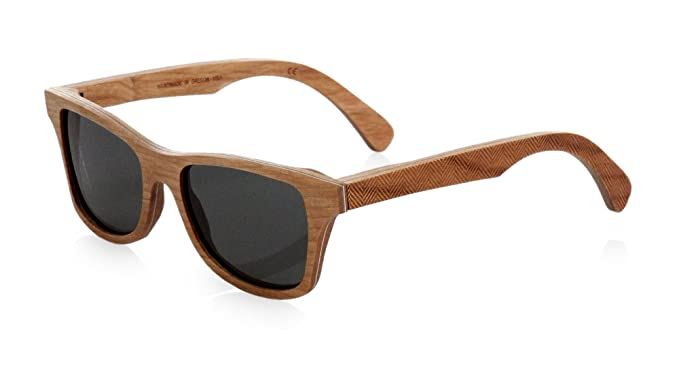c7610f5ece Image Unavailable. Image not available for. Color  Shwood Canby Polarized  Wood Wayfarer Sunglasses Herringbone Frame ...