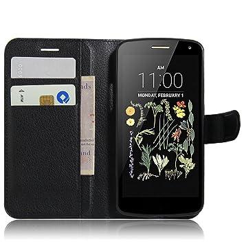 Nadakin LG K5 Calidad Premium Cartera de Cuero con Carcasa ...