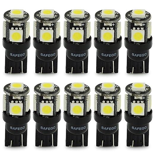23 opinioni per Safego 10 x T10 LED W5W LAMPADINE 194 168 5 SMD 5050 bianco LED luci