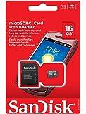 16GB Sandisk microSD Flash Memory Card + SD Adapter