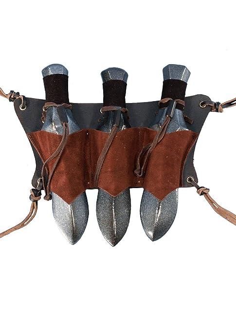 Epic Armoury Piel Larp Soporte para cinturón de Piel para 3 ...