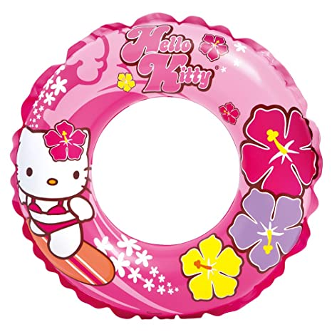 Intex - Rueda Flotador Hinchable, diseño Hello Kitty, 61 cm ...