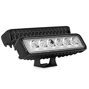 Led Bulbs & Tubes 2pcs 6000k Led Spotlight Work Light Bar Waterproof 18w 12v Offroad Truck Car Boat Lighting Reversing Lamp $ Soft And Light