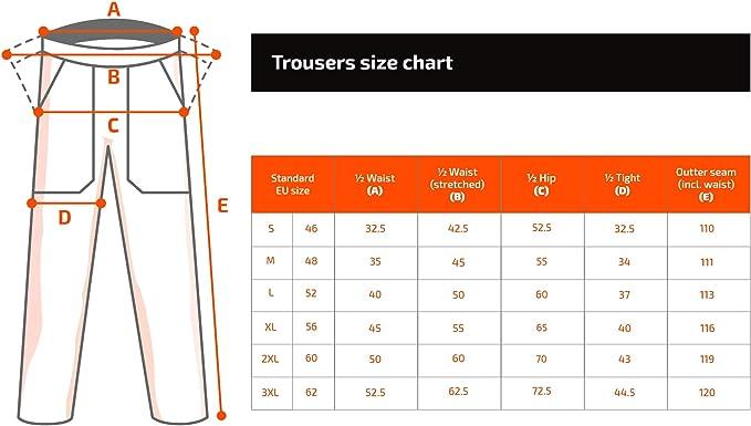 Pantaloni Cargo Stens Pantaloni da Lavoro Uomo Made in EU Multitasche con Tasche per Ginocchiere Neri