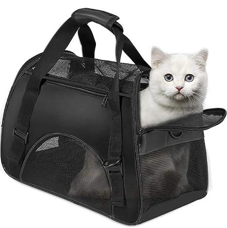 Vicstar Bolsa de Transporte para Perros/Gatos, Cómodo Bolso de Hombro Portador de Viaje con Estera ...