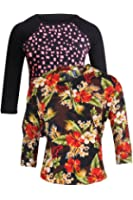 Vvoguish Women's Regular Fit Cotton Top (Pack of 2)