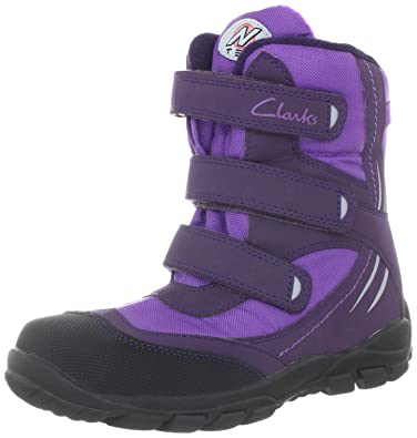 Clarks Snow Day G 203516966, Jungen Stiefel, Violett (Purple Synthetic), EU 27
