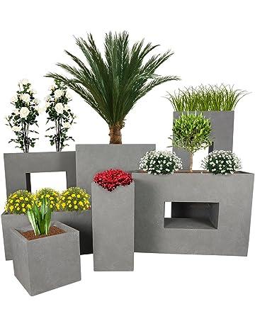 Pflanzwerk® Maceta Cube Tower Tub Divider Gris Resistente a Las heladas* *Protección UV
