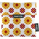Roll'eat Snack'N'Go- Tiles Orange - Reusable Snack Bag