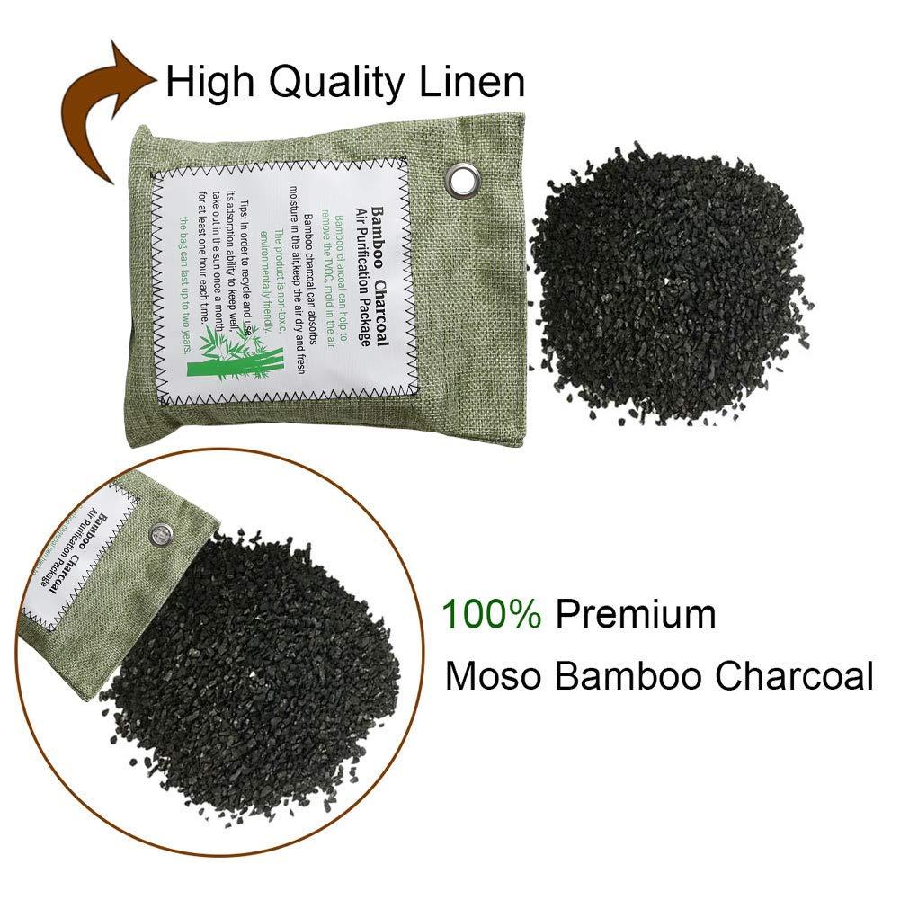 MEYUEWAL elimina Gli odori Sacchetto per purificare laria purifica laria in Carbone di bamb/ù Naturale