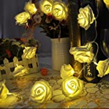 Rose Flower Fairy String Lights 20LED Wedding Garden Party Christmas Decoration by Hotportgift
