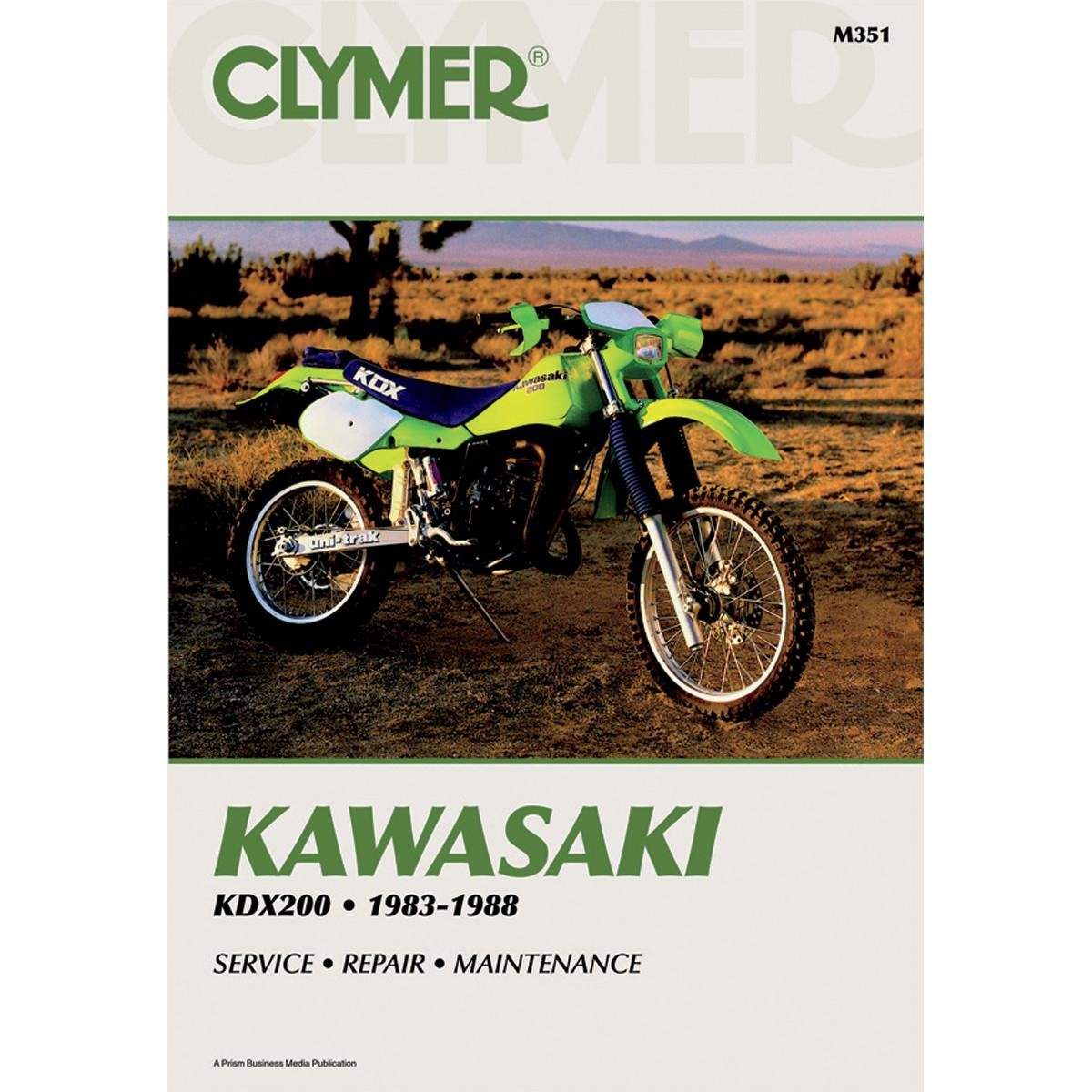 Amazon.com: Clymer Repair Manual for Kawasaki KDX200 KDX-200 83-88:  Automotive