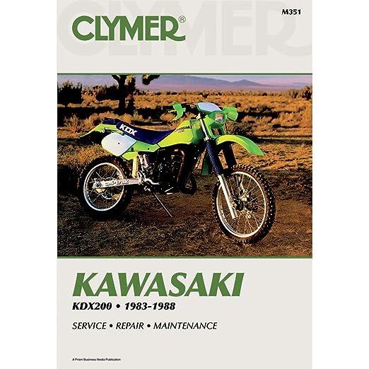 amazon com clymer repair manual for kawasaki kdx200 kdx 200 83 88 rh amazon com KDX 220 2009 Suzuki RM125