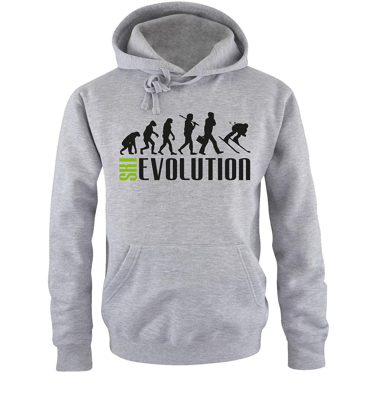 Comedy Shirts - SKI Evolution - Herren Hoodie - Gr. S-XXL Versch. Farben
