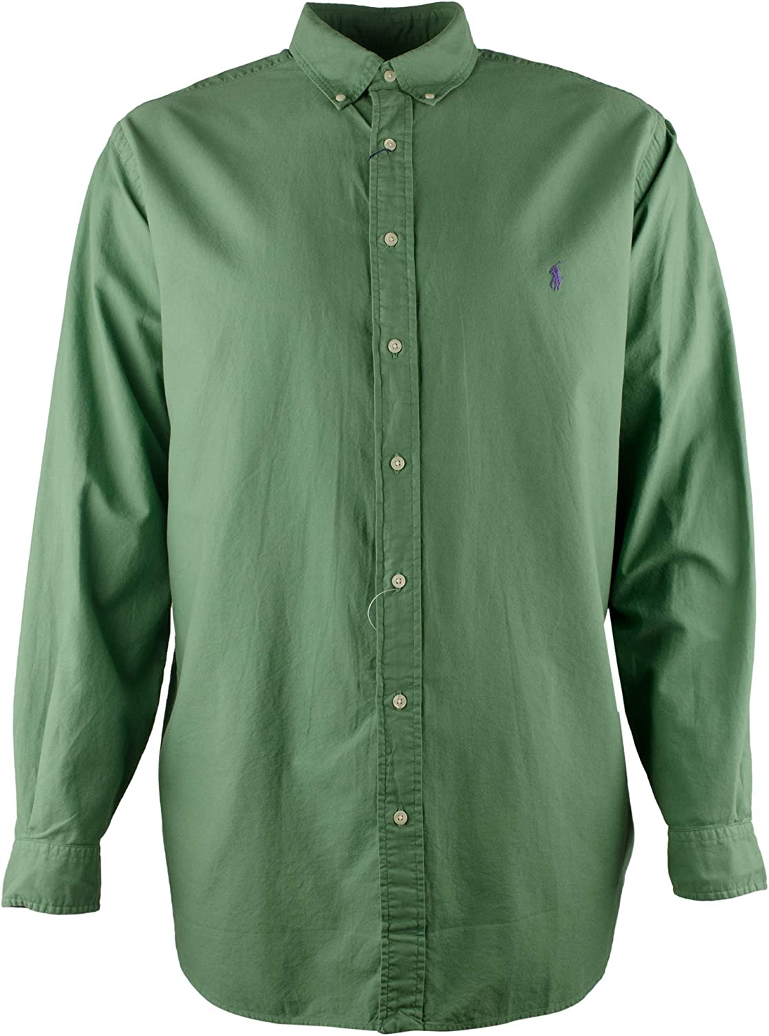 Polo Ralph Lauren Mens Big And Tall Buttondown Shirt Long Sleeve Collared Top