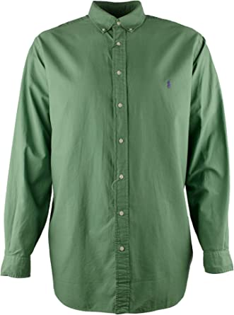 Big Size 3XB Ralph Lauren Stretch Oxford Mens Long Sleeve Shirt