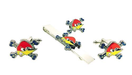 Pack Gemelos para Camisa - Pin de Solapa y Pasador de Corbata Logo Loquillo: Amazon.es: Joyería