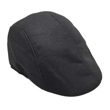 d868d077cca Kanpola Women Men Summer Visor Hat Sunhat Mesh Running Sport Casual  Breathable Beret Flat Cap Black  Amazon.co.uk  Clothing