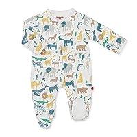 Footie Pajamas 100% Organic Cotton Baby Sleepwear Quick Magnetic Fastener Sleeper