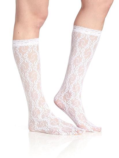 37a7b68be Berkshire Women s Sheer Lace Knee Socks
