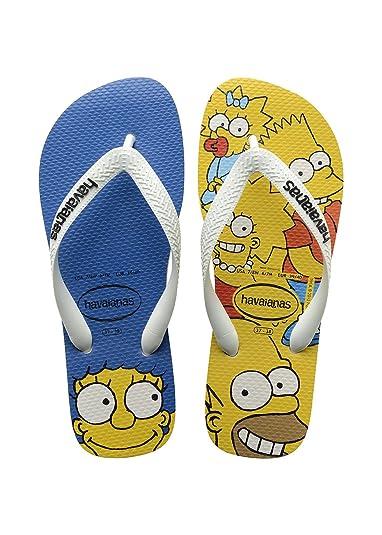 055a15ef3 Kids Havaianas Flip Flops Simpsons - White - Children s Flip Flops-7 Child  UK (
