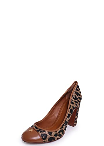 99fc65cdb299 Tory Burch Ethel Leopard Print Captoe Pump Animal Print Heels NIB Shoes  Size 7