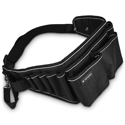 Navaris Cinturón para herramientas con hebilla - Porta herramientas con varios  compartimientos - Organizador de herramientas aea436d4524f