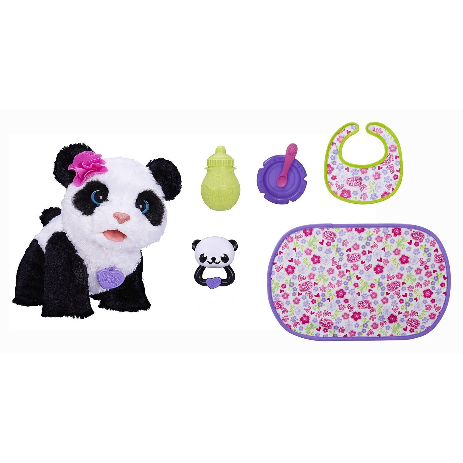 Fur Real Friends Pom Pom My Baby Panda Deluxe Set Panda Pet Plush by FurReal (Image #2)