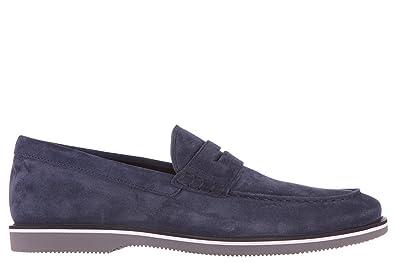 Men's Suede Loafers Moccasins h262 Biro Blu